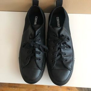 Converse Black Leather New Limited Edition, 8.5